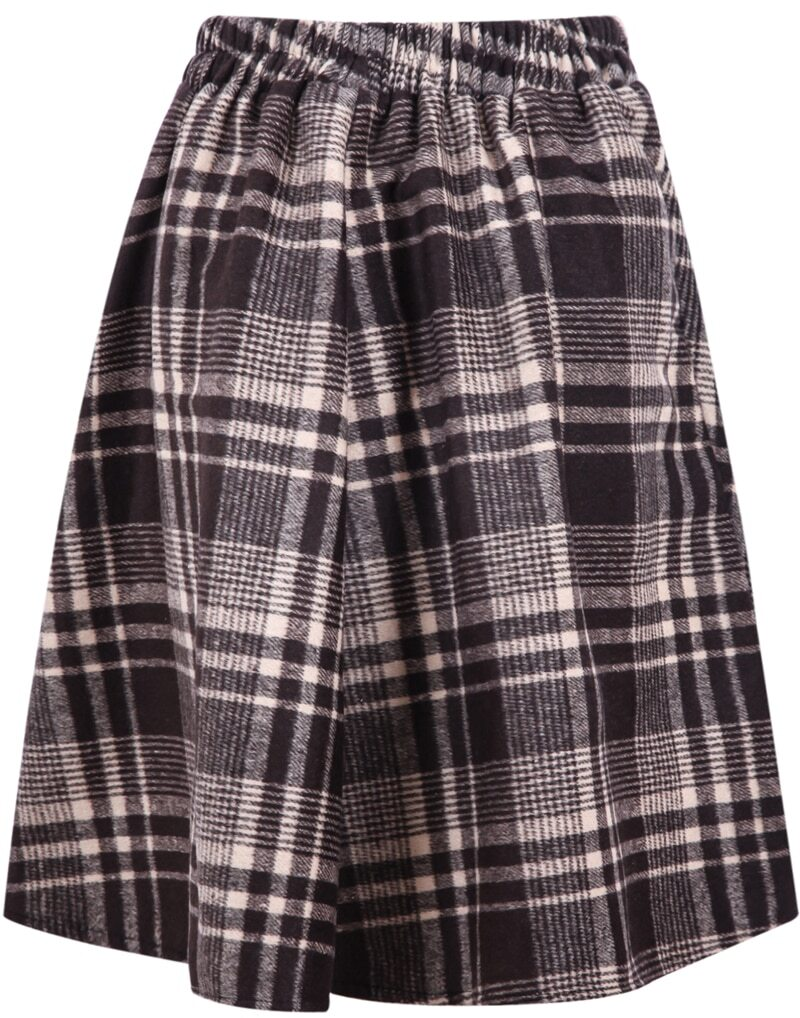 khaki plaid pleated skirt shein sheinside