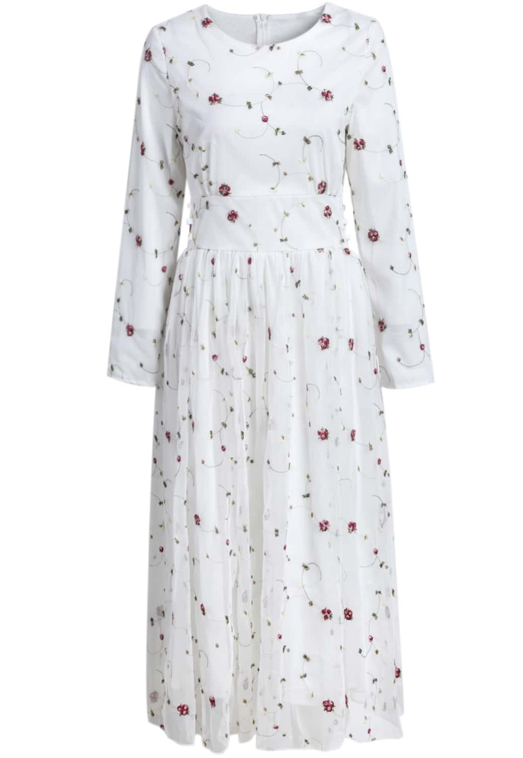 d0790718b6 White Maxi Dresses With Sleeves