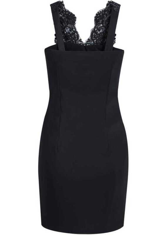 986659e887 Black Contrast Lace V Neck Bodycon Dress | SHEIN