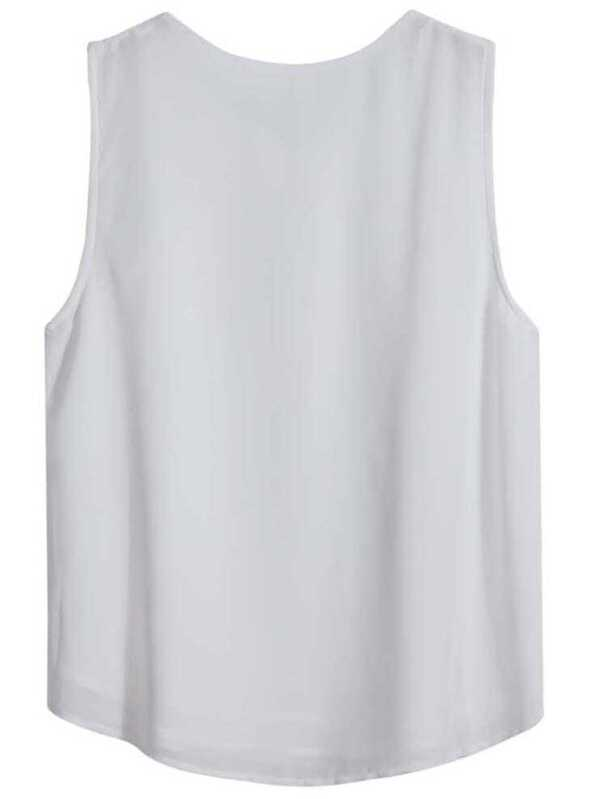 435146ebd9d7a Cheap White Sleeveless Embroidered Loose Vest for sale Australia