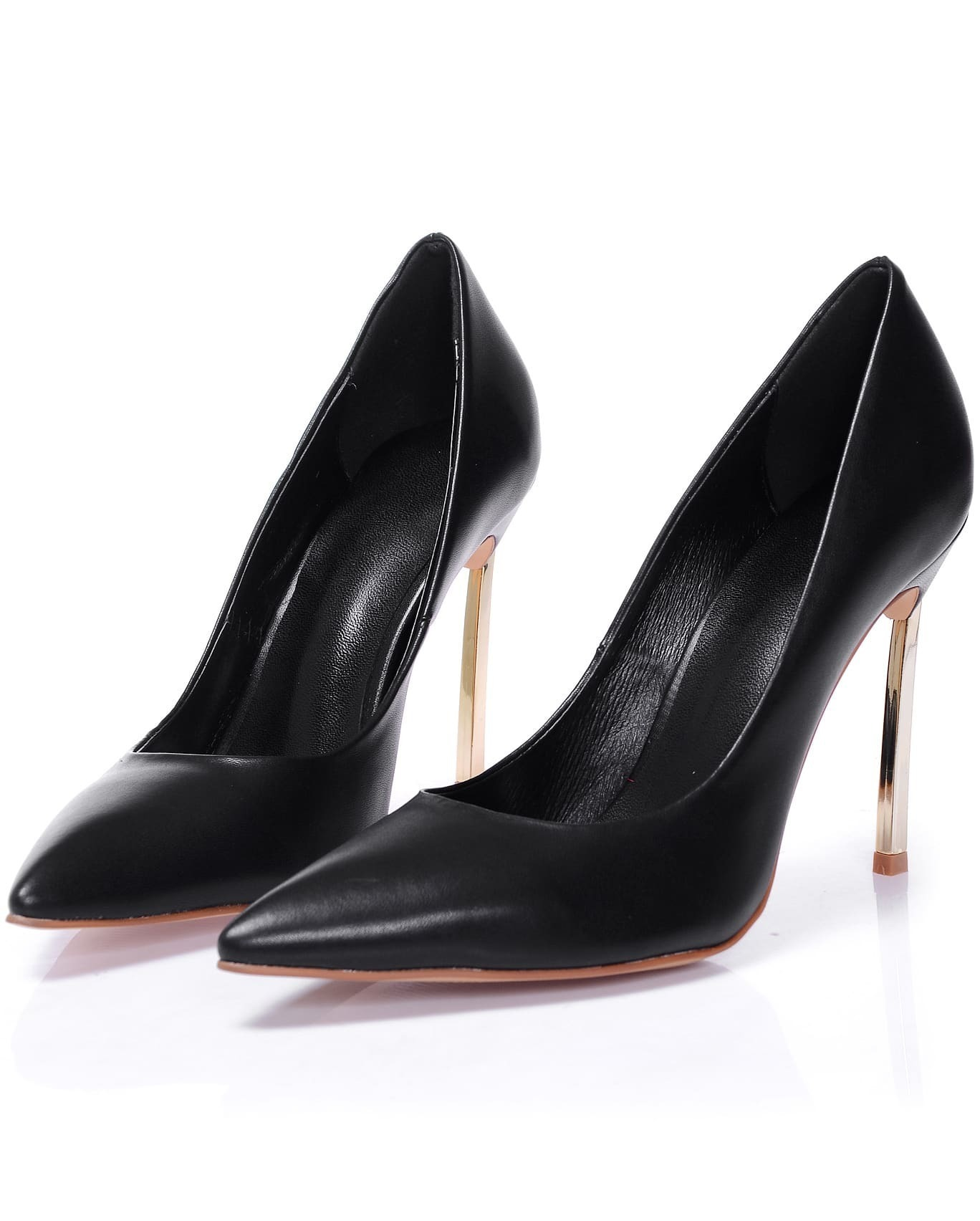 89bdc0aeb Black High Heel Stiletto Point Toe Shoes -SheIn(Sheinside)