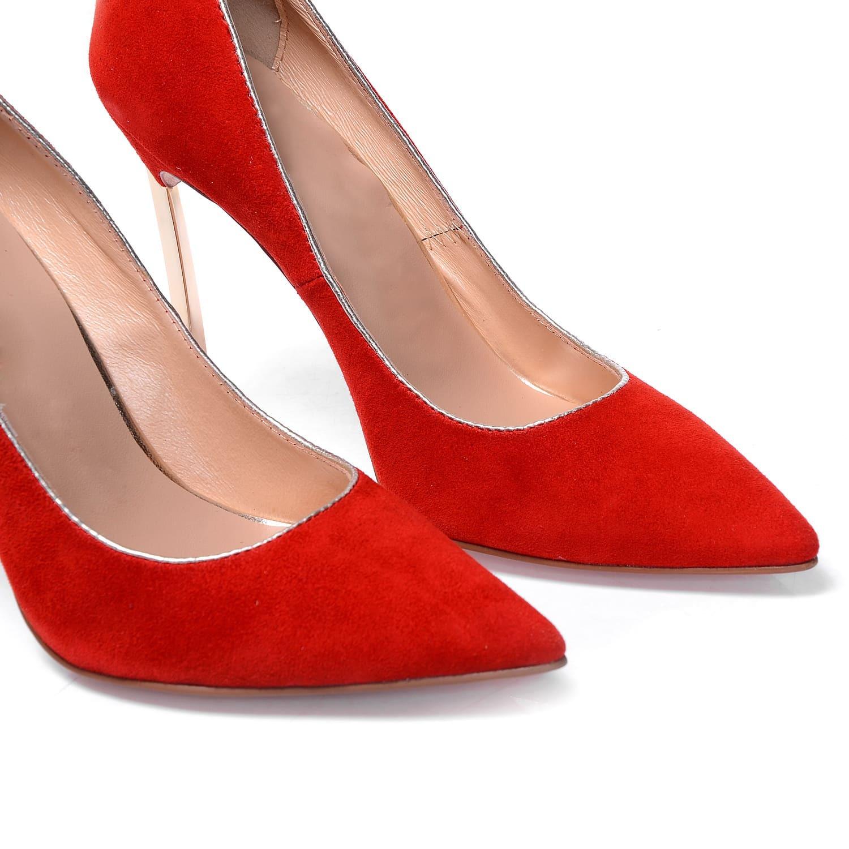 orange high heel stiletto point toe shoes shein sheinside. Black Bedroom Furniture Sets. Home Design Ideas