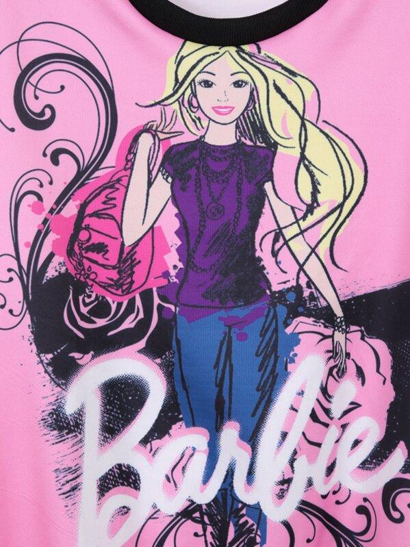 Felpa A Girocollo Rosa Stampata Barbie DH2eWIE9Y