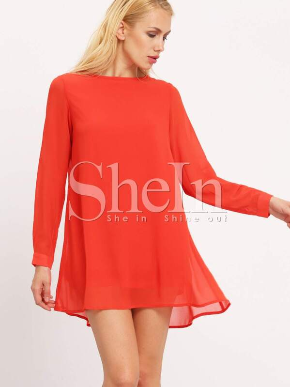 Kleid ruckenausschnitt langarm