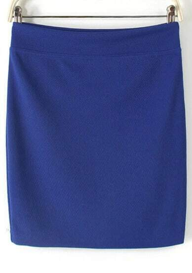 royal blue bodycon mini skirt shein sheinside