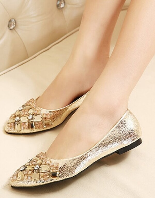 6b49700b3 Cheap Gold With Rhinestone Flat Shoes for sale Australia