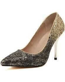 Scarpe con tacco alto oro