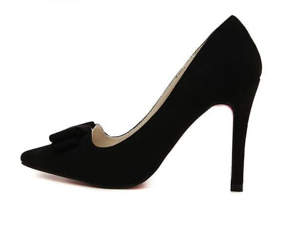 black bow embellished stiletto high heel shoes shein