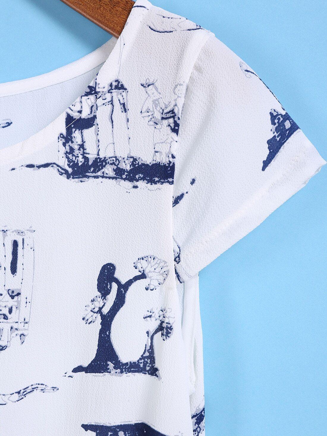 Castle Print Blouse 68