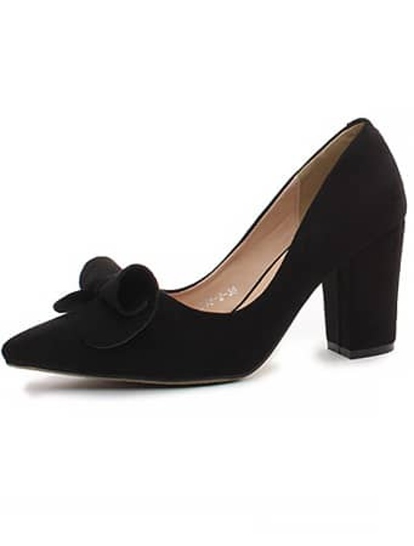 9043f23a Zapatos con tacón alto lazo-negro | SHEIN ES