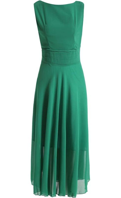 fdc46295f7e9e Green Sleeveless Pleated Chiffon Maxi Dress. AddThis Sharing Buttons