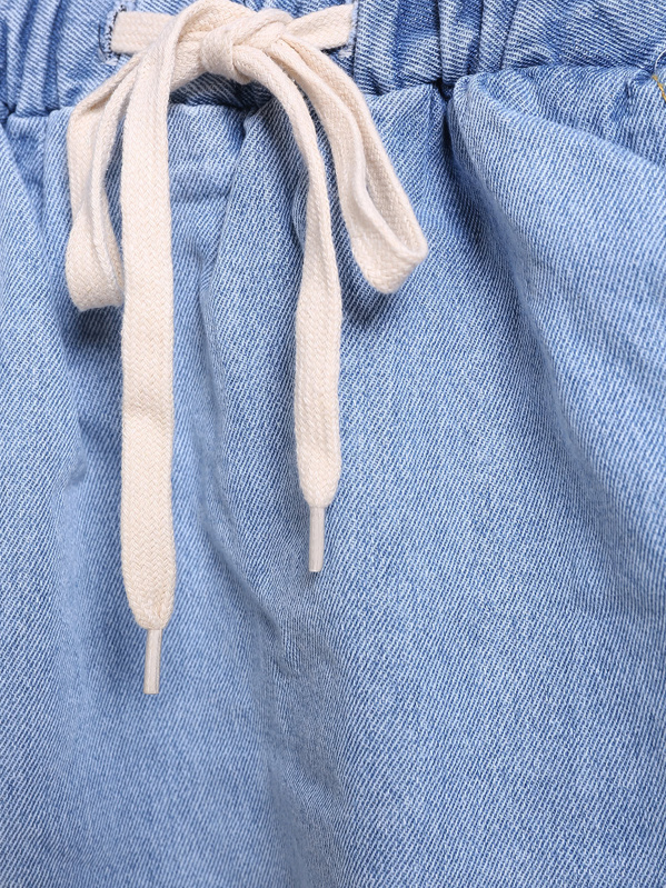 e9002dd83c3 Falda denim cintura elástica-azul   SHEIN ES