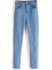 Синие модные джинсы