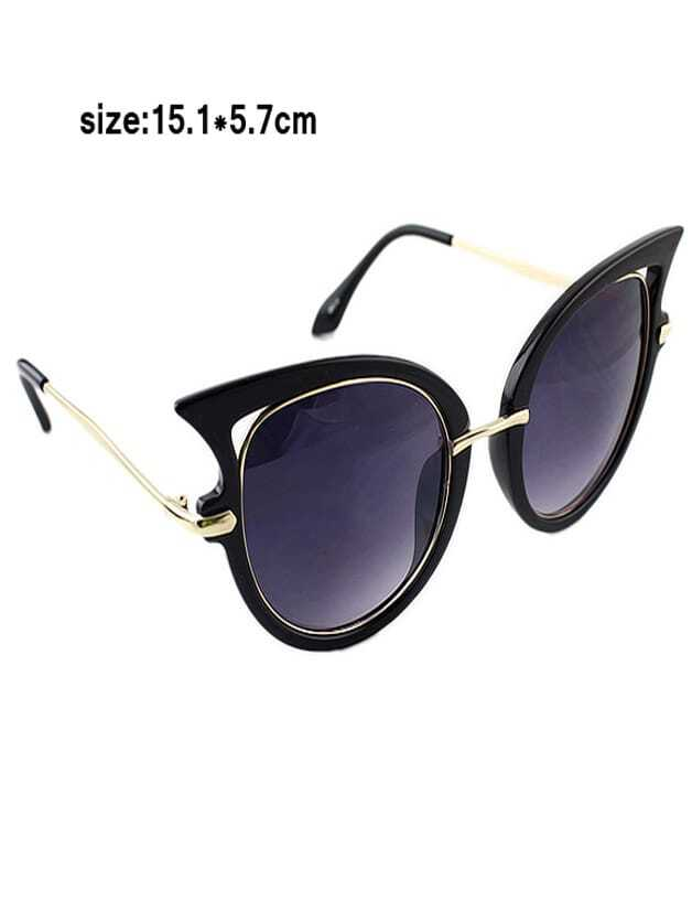 2015 damen katze auge sonnenbrille schwarz german shein sheinside. Black Bedroom Furniture Sets. Home Design Ideas