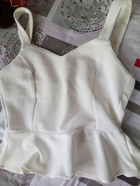 b8d018956c Princess Seam Lace Up Back Peplum Bustier Top | SHEIN UK