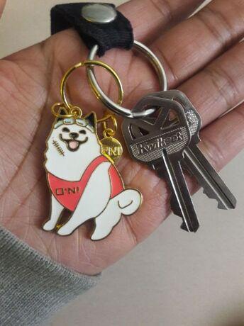 dae5ab5563 Smile Dog Decorated Ring Keychain -SheIn(Sheinside)