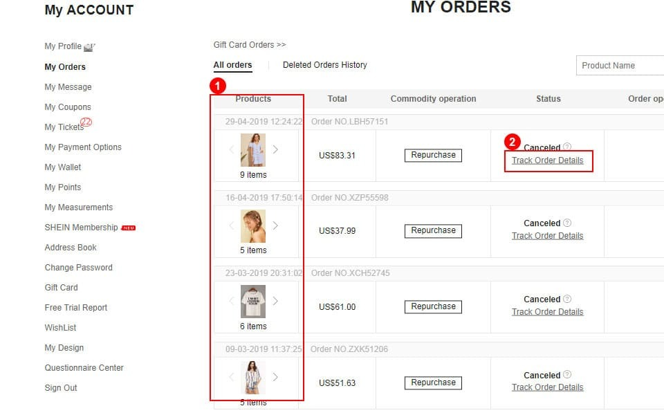 How to track my order | SHEIN