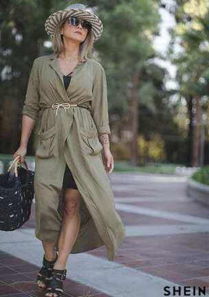 f658c07c47 Tie Waist Split Maxi Dress With Pockets Style Gallery